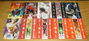 Final Crisis #1-7 VF/NM complete series + superman beyond 3-D 1-2 + (6) more