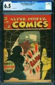 Super-Dooper Comics #7 CGC 6.5 1946-SHOCK GIBSON- Hitler- 2066889001