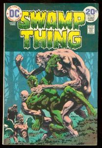 SWAMP THING #10 1974-DC COMICS-BERNI WRIGHTSON-LEN WEIN VG