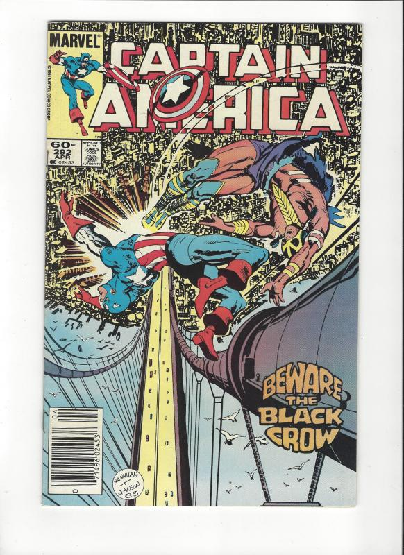 CAPTAIN AMERICA #292 VERSUS BLACK CROW VF/NM