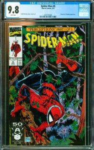 Spider-Man #8 CGC Graded 9.8 Wolverine & Wendigo appearance.