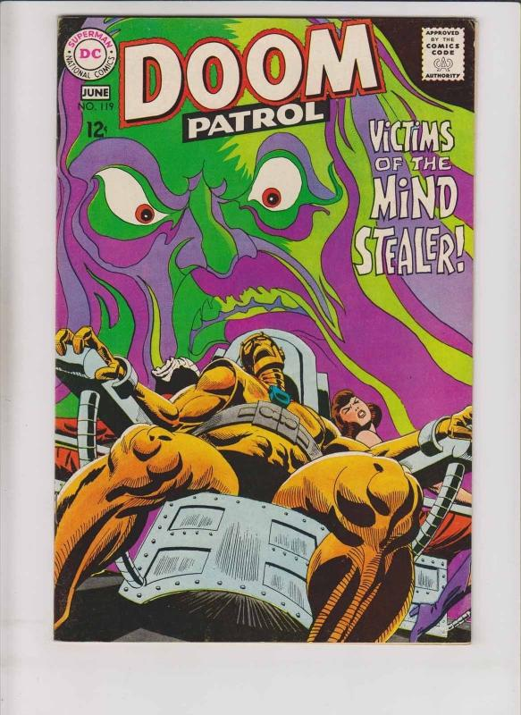 Doom Patrol #119 VF/NM june 1968 - victims of mind stealer  silver age dc comics