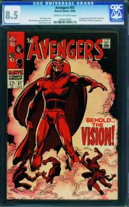 Avengers #57 CGC 8.5 - first appearance of THE VISION! Marvel 1346220006