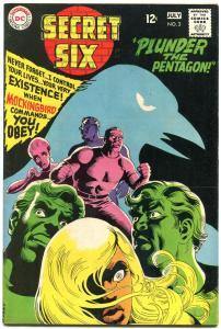 SECRET SIX #2-DC-MOCKINGBIRD-PLUNDER THE PENTAGON VF
