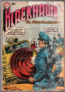 Blackhawk #15 1958-DC-Blackhawk Gets Super Powers-lower grade-P