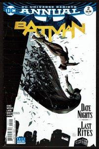 Batman Annual #2 Rebirth (Jan 2018, DC) 0 9.2 NM-