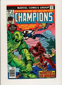 Marvel 1976 THE CHAMPIONS#9 Ghost Rider/Iceman/vs Darkstar/Titanium F/VF (PF887)