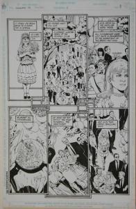 PHIL JIMENEZ / BRUCE PATTERSON original art, SHOWCASE '94 #5 pg 8, 11x17, 1994