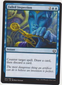 Magic the Gathering: Kaladesh - Failed Inspection