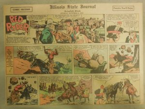 Red Ryder Sunday Page by Fred Harman from 10/6/1940 Half Page Size!