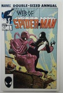 Web of Spider-man Annual 1 | Marvel Comics | 1985 | NM | Black Costume Suit