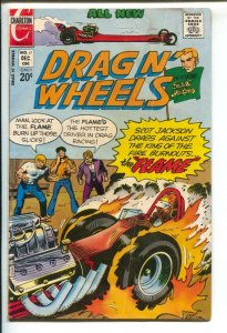 Drag N' Wheels #57 1972- CHARLTON- Jack Keller art-dragster burns tire cover-G