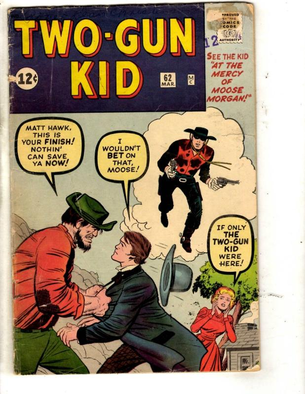 Two-Gun Kid # 62 VG/FN Marvel Comic Book Western Cowboy Moose Morgan JL7