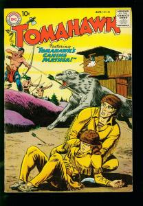 TOMAHAWK #50 1957- DC WESTERN -1ST TRACKER APPEARANCE- SILVER AGE-fn