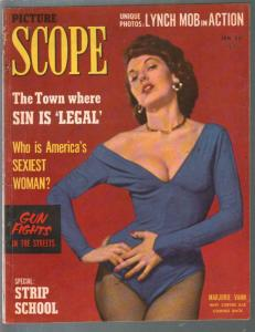 Picture Scope 1/1954-rare full size issue-cheesecake pix-exploitation-VG/FN
