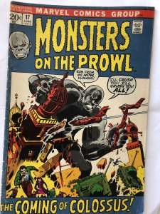 Monsters on the Prowl #17,FN, colossus!! Wreaks havoc!!