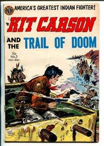 Kit Carson #5 1954-Avon-Everett Raymond Kinstler cover-Pawnee Bill-VF