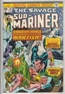 Sub-Mariner #70 (May-74) VF High-Grade Sub-Mariner (Prince Namor)