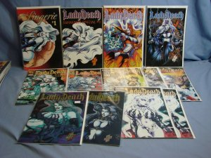 13 LADY DEATH Comic Books CHAOS! Comics Chromium Variants Lingerie Issue L@@K!!!