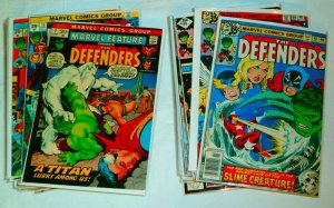 Defenders V1 #15,33,39,53-60,63-66,86-91+ Marvel Feature V1 #3, comics lot of 32