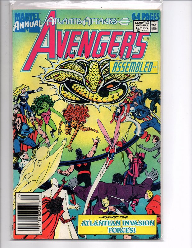 Marvel Comics (1989) Avengers Annual #18 Atlantis Attacks Pt. 8 John Byrne Cover