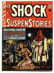 SHOCK SUSPENSTORIES #6 1953 Wally Wood Hooded Menace cover EC comic