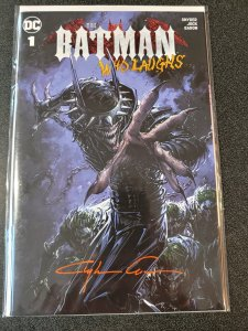 The Batman who laughs #1 Scorpion Comics Variant signed by Clayton Crain W/COA