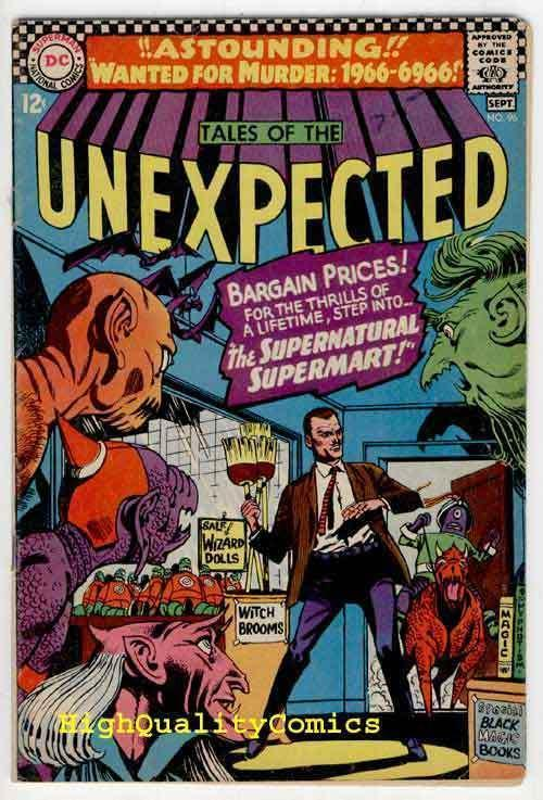 TALES of the UNEXPECTED #96, VG+,Supernatural Supermart, 1966, Wanted for Murder