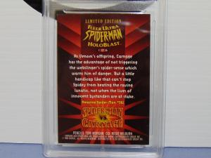1995 Fleer Ultra Spider-Man vs. Carnage #1 Holoblast Hologram Card - Graded 8.5