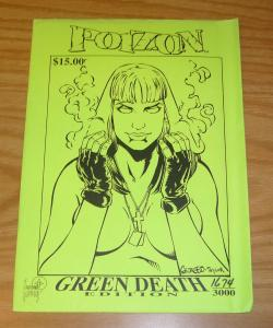 Poizon #1 VF/NM green death edition - signed variant with COA (#1674 of 3000)