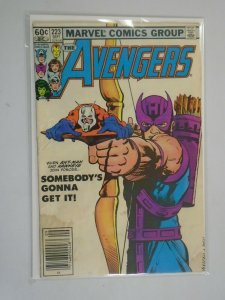 Avengers #223 Newsstand edition 3.0 GD VG water damage (1982 1st Series)
