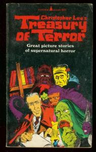 CHRISTOPHER LEE TREASURY OF TERROR PAPERBACK 1966-COMIC VG