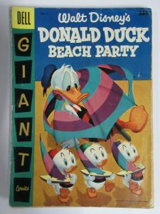 DONALD DUCK BEACH PARTY #2 (Dell Giant, 7/1956) POOR (PR) Walt Disney, see desc