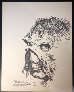 Bernie Wrightson Swamp Thing Commision 11x17 Not Matted Mint Original Art
