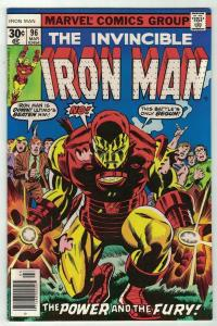 IRON MAN 96 VFNM Mar. 1977 great Kirbyesque cover