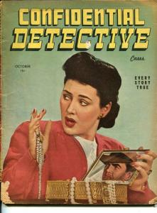 CONFIDENTIAL DETECTIVE CASES-OCT 1946-MURDER-ROBBERY-RAPE-VICE-good G