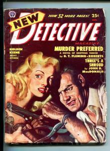 NEW DETECTIVE-01/1949-HARD BOILED PULP-JOHN D MACDONALD-GUN MOLL COVER-vg