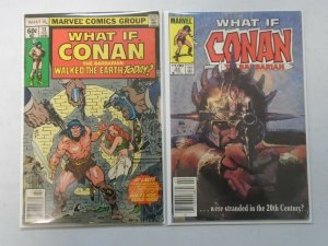 What If? lot 2 different Conan issues avg 6.0 FN