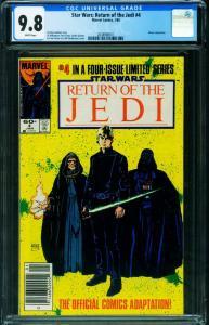 Star Wars The Return of the Jedi #4-1984-cgc 9.8 NEWSSTAND -2038908011
