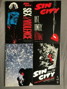 SIN CITY - FOUR (4) ONE SHOTS - SILENT NIGHT, SEX & VIOLENCE, BABE WORE RED,