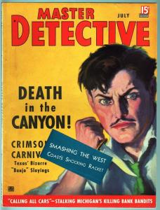 MASTER DETECTIVE JUL 1937-VF-PULP STYLE CRIME MAG-MURDER AT THE AIRPORT VF