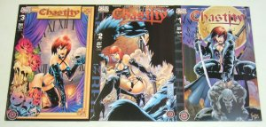 Chastity: Shattered #1-3 VF/NM complete series - chaos comics - brian pulido set