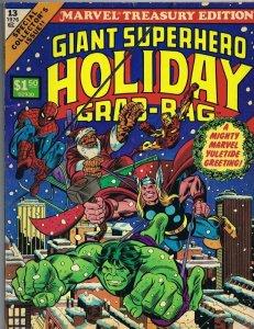 ORIGINAL Vintage 1976 Giant Superhero Holiday Grab Bag Marvel Treasury #13