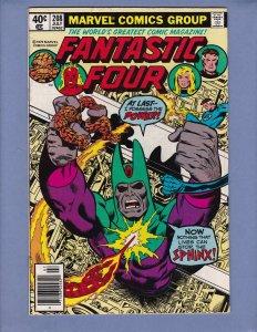 Fantastic Four #208 FN Nova Sphinx Marvel 1979