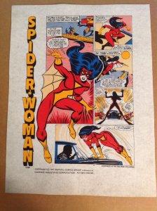Vintage Spider-Woman handbag production art set Marvel Spider-Man