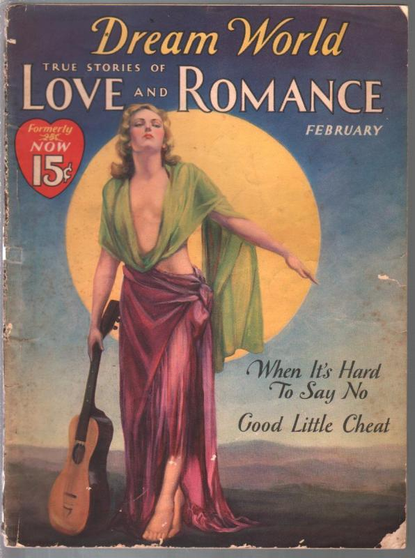 Dream World Love and Romance 2/1933-Clair Carter spicy cover-posed pix-pulp thri