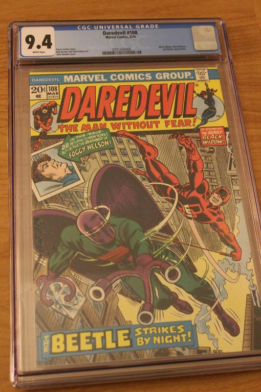 Daredevil #108 (Marvel, 1974) CGC NM 9.4 White pages