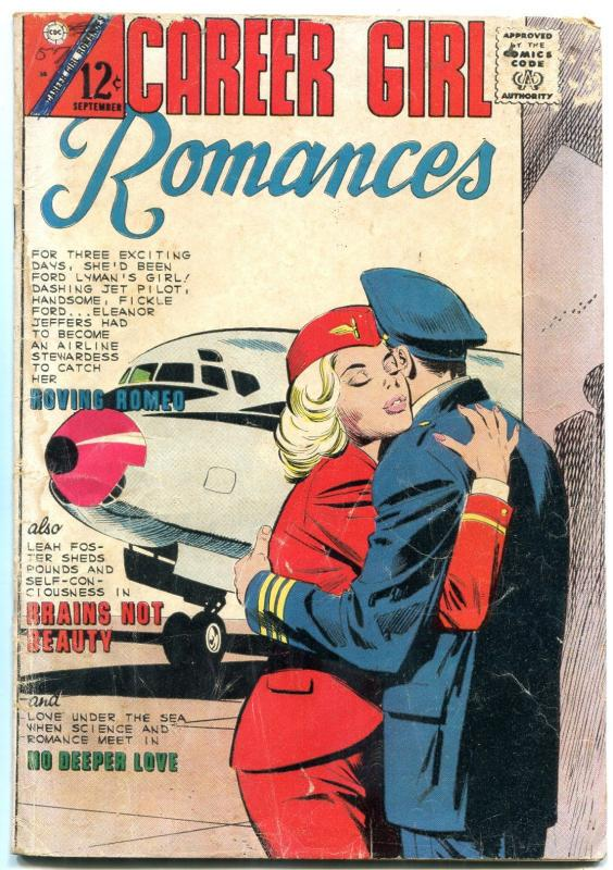 Career Girl Romances #30 1965- Charlton comics- Stewardess cover VG