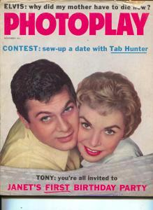 Photoplay-Janet Leigh-Tony Curtis-Elvis Presley-Tab Hunter-Jimmy Dean-Nov-1958