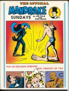 Official Mandrake Sundays 1/1989-Lee Falk-Phil Davis-B&W Sunday reprints-NM